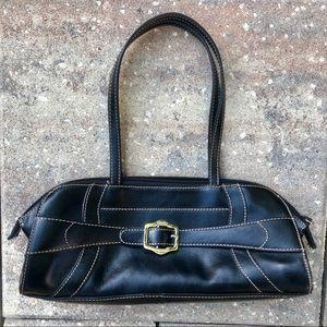 Franco Sarto black handbag purse w/silver buckle